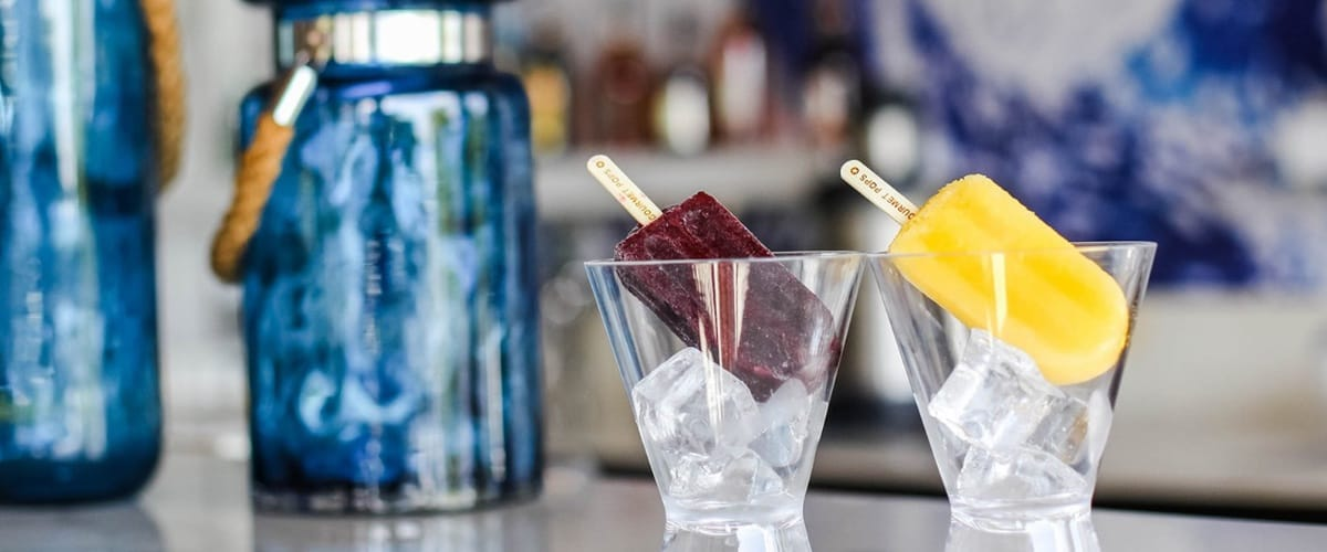 Popsicles in Glass